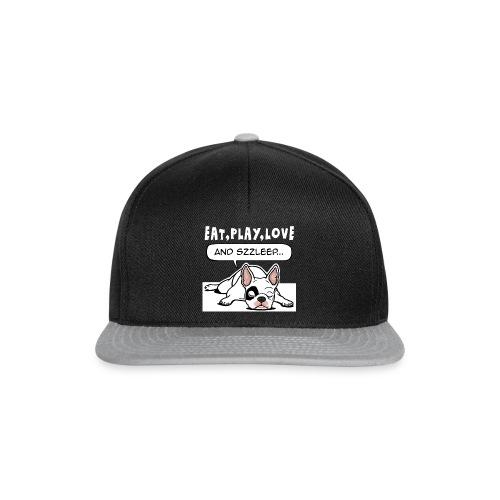 Franse bulldog eat play love sleep - Snapback cap