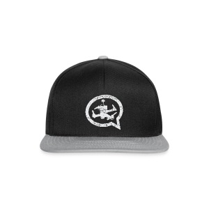 QUAD TALK DISTRESSED LIGHT - Snapback Cap