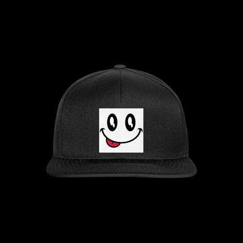 augen-smiley-zunge-t-shirts-maenner-premium-t-shir - Snapback Cap