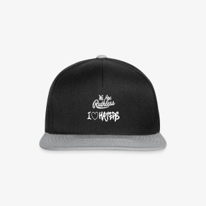 i love haters ruthless will not fit white part 2 - Snapback Cap