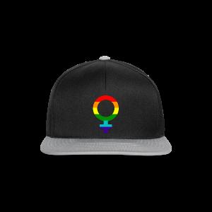 Gay pride regenboog vrouwen symbool - Snapback cap