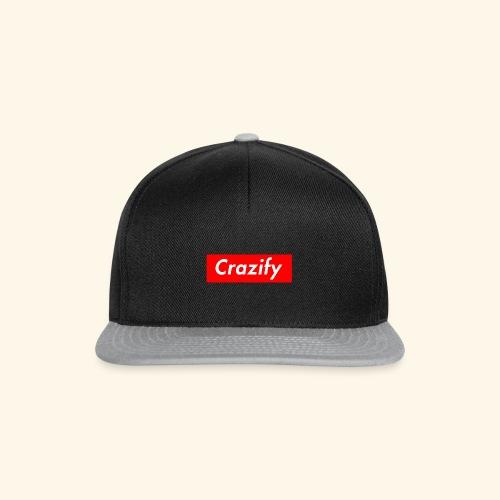 Crazify Red & White - Snapback Cap