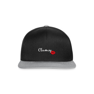 clumsy white - Snapback Cap