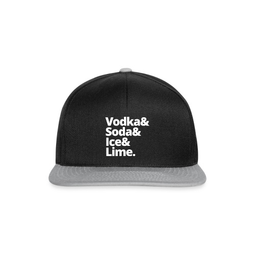 vodka soda ice lime - Snapback cap