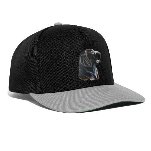 flatcoated retriever color - Snapback Cap