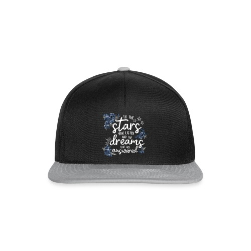 To The Stars White Blue - Snapback Cap