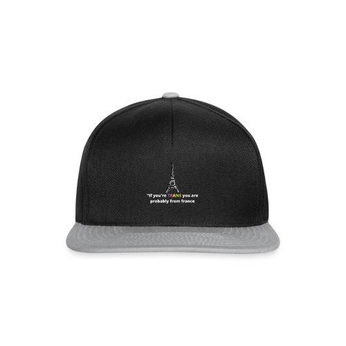 Slogan - White Heading - Snapback Cap