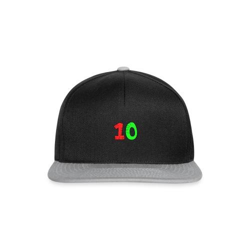 10 verde e rossa - Snapback Cap