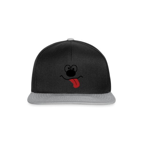 Funny Cartoon Face drunk tongue sticking out - Snapback-caps