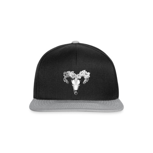 Black & White fashion skull design - Snapback Cap