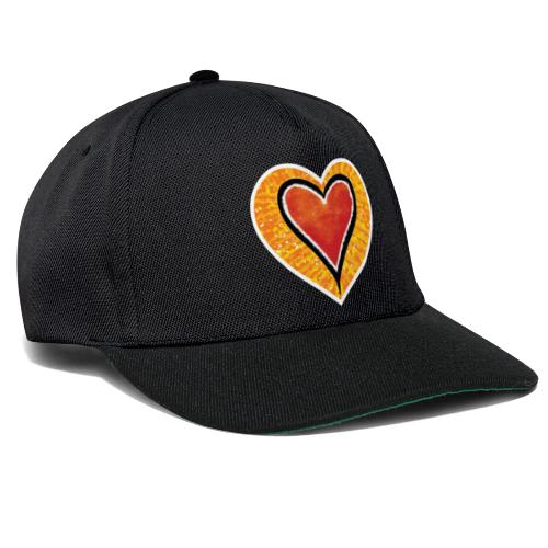 Red heart under Fire - Snapback Cap