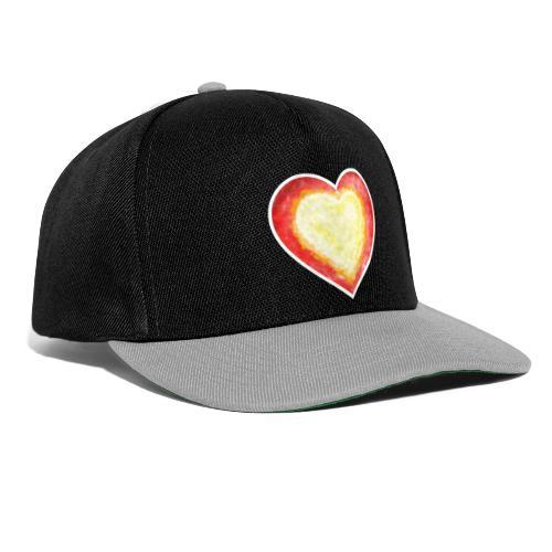 Burning Fire heart - Snapback Cap