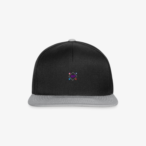 MP logo with social media icons - Snapback Cap