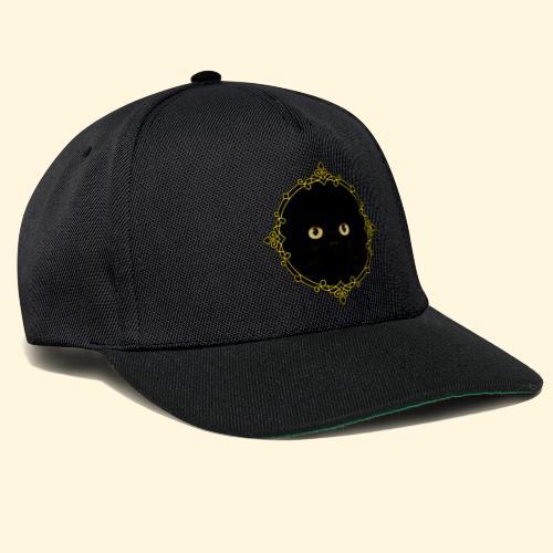 Badge Chat Noir - Pixel Art - Casquette snapback