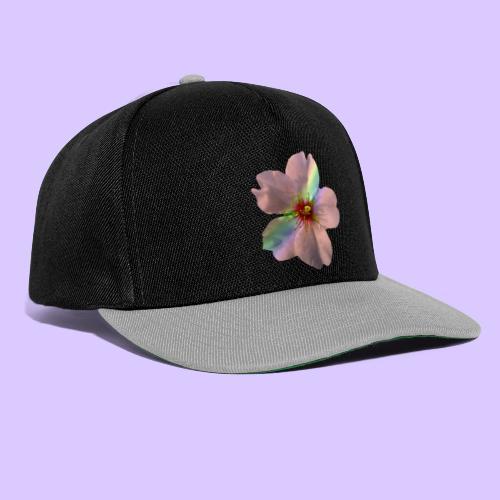 zauberhafte Blüte in coral, Regenbogen - Snapback Cap