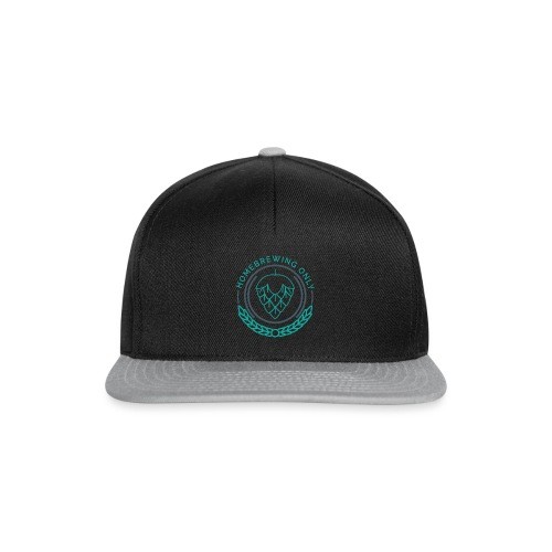 Homebrewing Only Turquoise - Snapback Cap