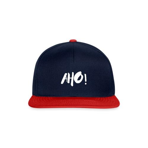 aho white 1 - Snapback Cap