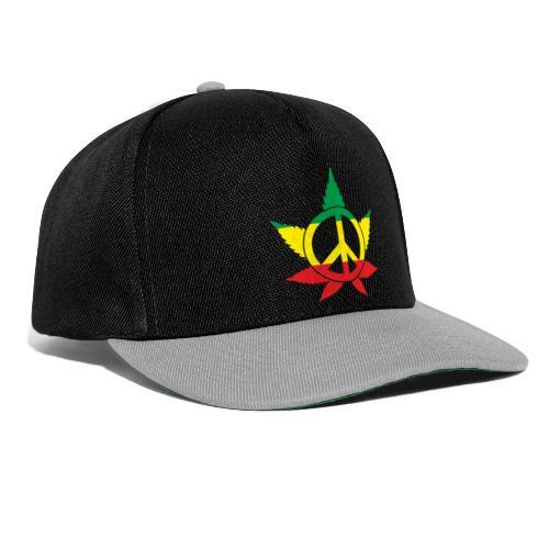 Peace färbig - Snapback Cap