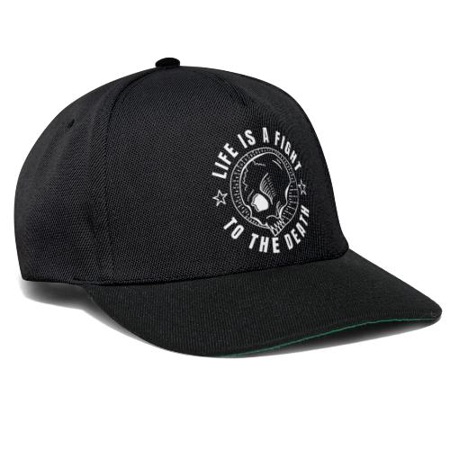 life is a fight, white print - Snapbackkeps