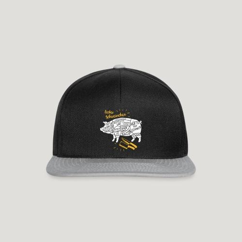 lecker Schweinchen lustiges Grill Shirt Geschenk - Snapback Cap