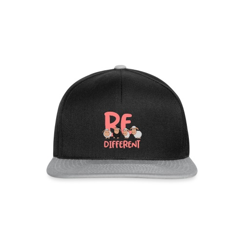 Be different pink sheep - Unique sheep - Snapback Cap