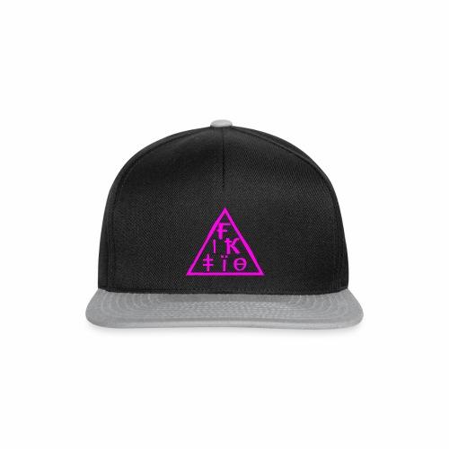 fiktio logo pink - Snapback Cap