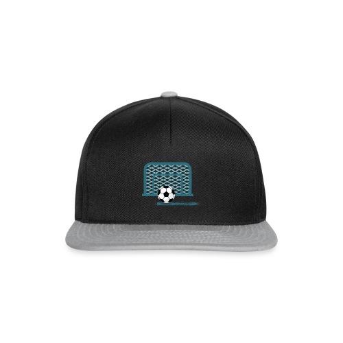 Fußball vor Tor - Snapback Cap