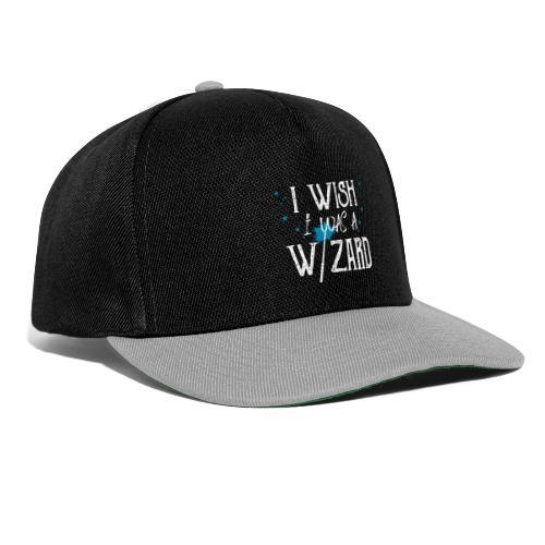I Wish I Was A Wizard - White - Snapback Cap