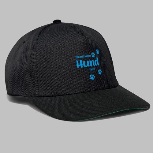 DIE MIT DEM HUND GEHT - BLUE EDITION - Snapback Cap