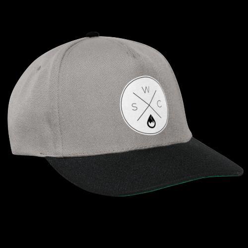 WSC Hipster-Logo rund weiß - Snapback Cap