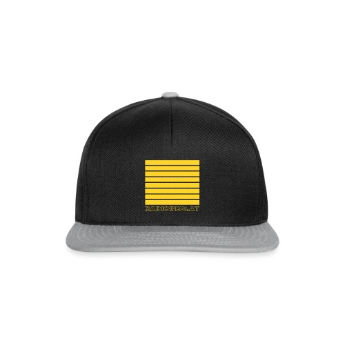 Radio Shirt mit Balken - Snapback Cap