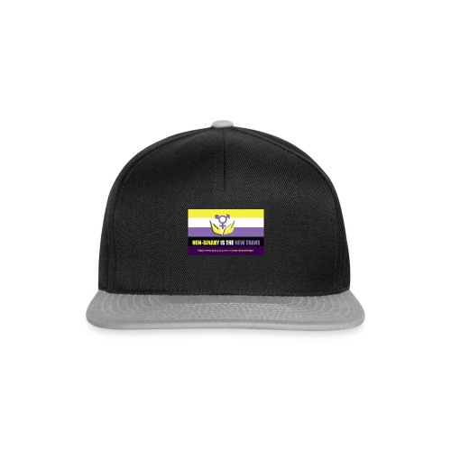 Non-binaire is the new Trans. My Facebook Page - Snapback cap