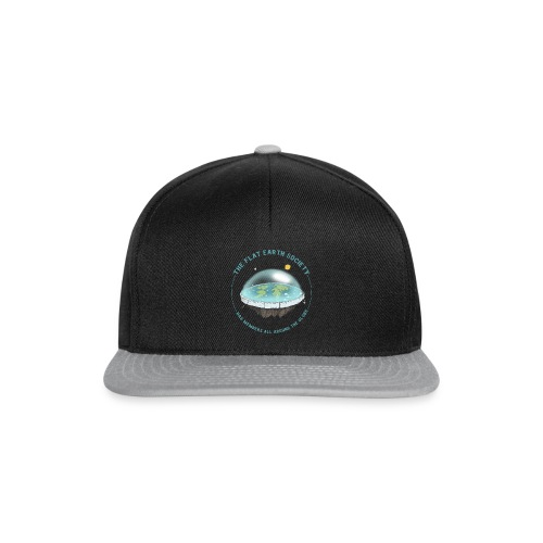 flat earth threadless - Snapback Cap