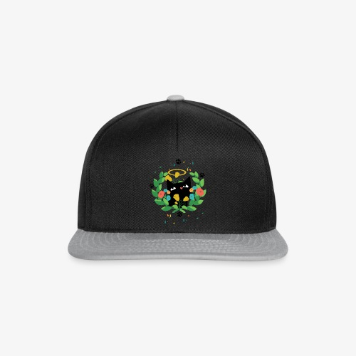 Black cat design for cat lovers - Snapback Cap