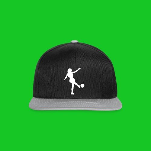Voetbal vrouw - Snapback cap