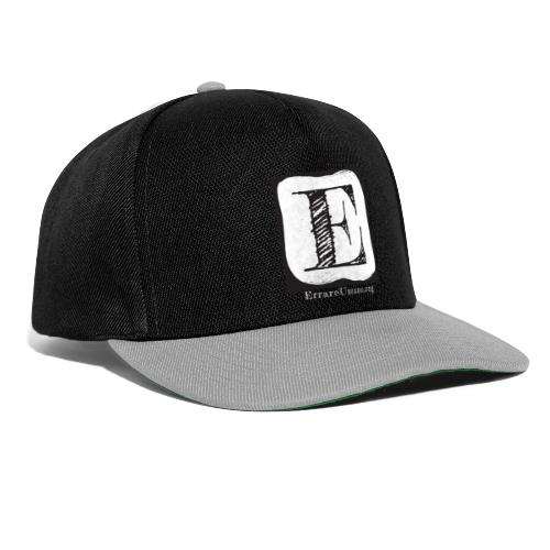 Logo ErrareUmano con scritta bianca - Snapback Cap