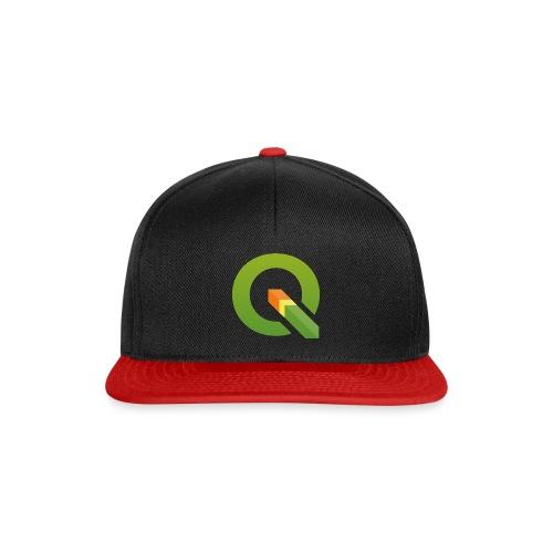 qgis logo 4000x3893px tra - Snapback Cap
