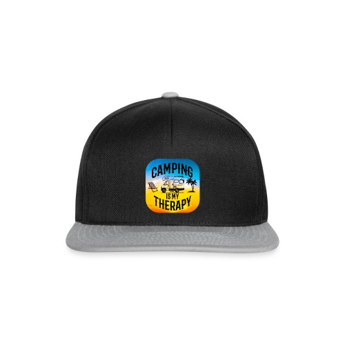 camping is my therapy - Snapback Cap