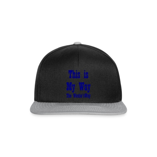 This is My Way Navy - Snapback Cap