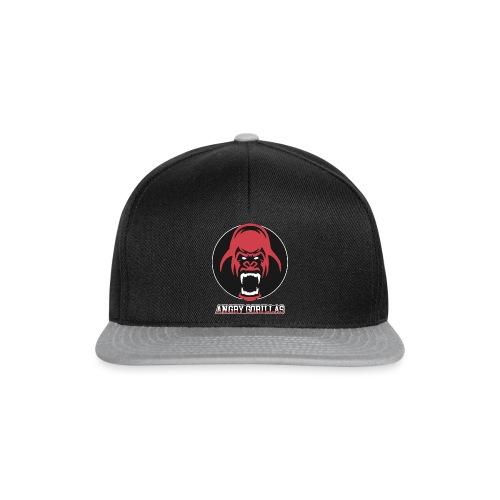 ANGRYGORILLAS Snapback Black/Grey (Logo) - Snapback Cap