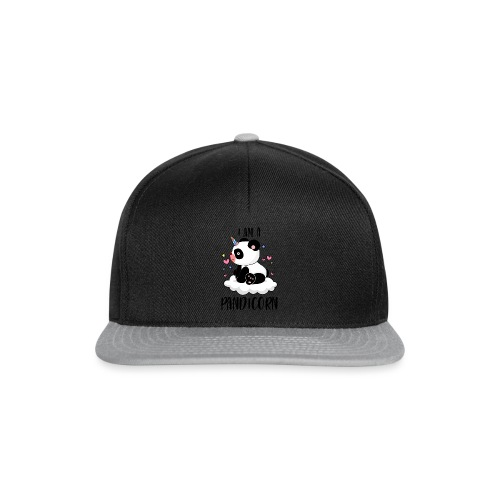 I am a Pandicorn - fun panda animal - Snapback Cap