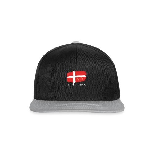 Dänemark Fahne Flagge dänisch Schrift Herz - Snapback Cap