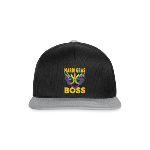 Funny Mardi Gras Boss Shirt Party Carnival gift - Casquette snapback