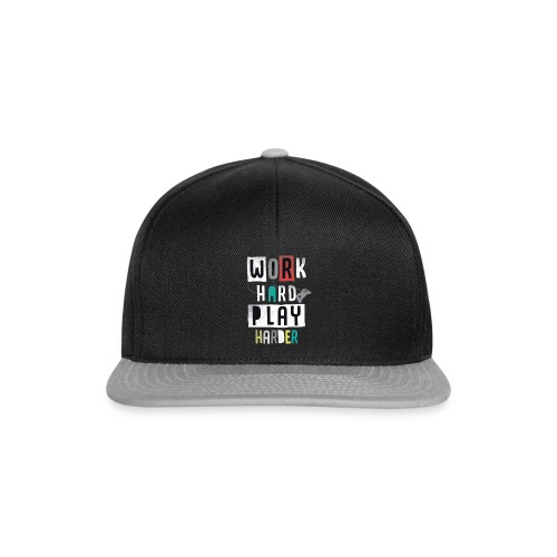 Tshirt Work Hard Play Harder - Casquette snapback