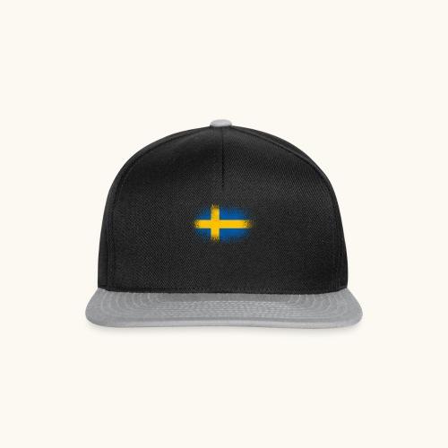 Suède cadeau drôle de drapeau suédois - Casquette snapback