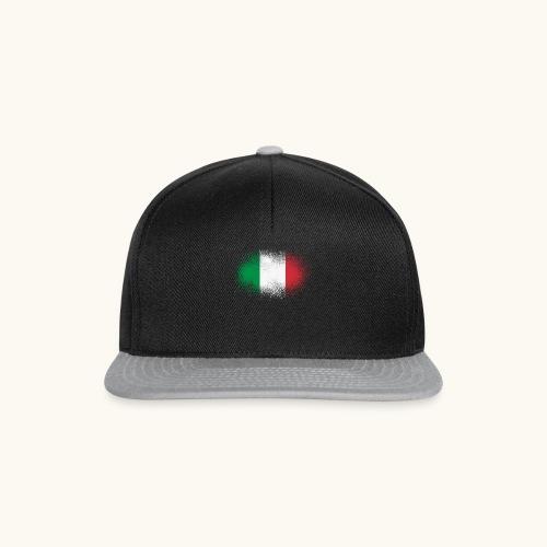 Italie cadeau drôle de drapeau italien grunge - Casquette snapback