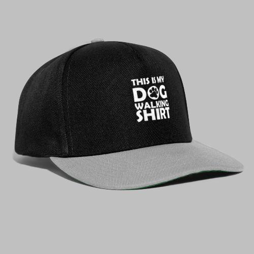 Hundepfote This is my DOG WALKING SHIRT Geschenk - Snapback Cap