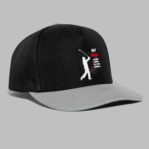 Golfregeln Golfball Golfschläger Abschlag lustig - Snapback Cap