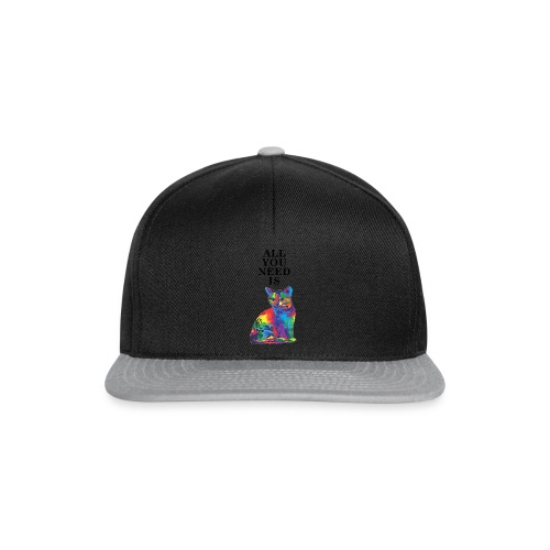 ALL YOU NEED IS CAT - Czapka typu snapback