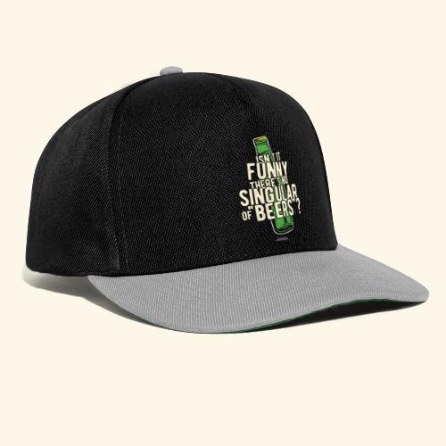 Beer T Shirt Designs Singular of Beers - Snapback Cap